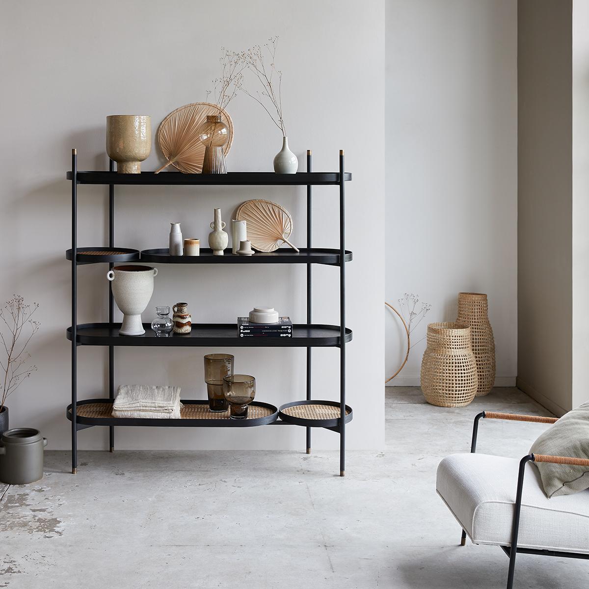 Alix mindi and canework Bookcase