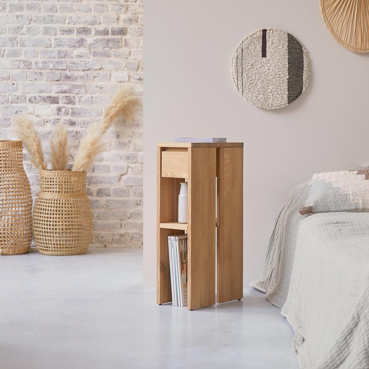 Eden solid oak Bedside table