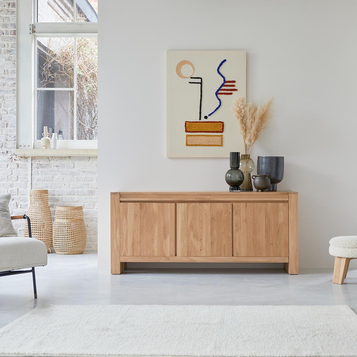 Eden solid oak Sideboard 160 cm