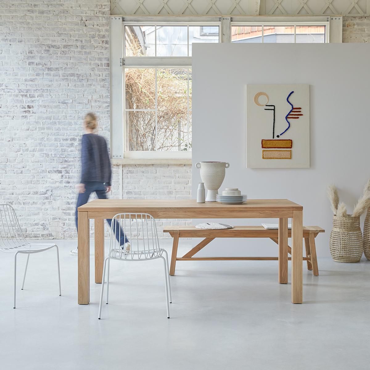 Eden solid oak table 180x90
