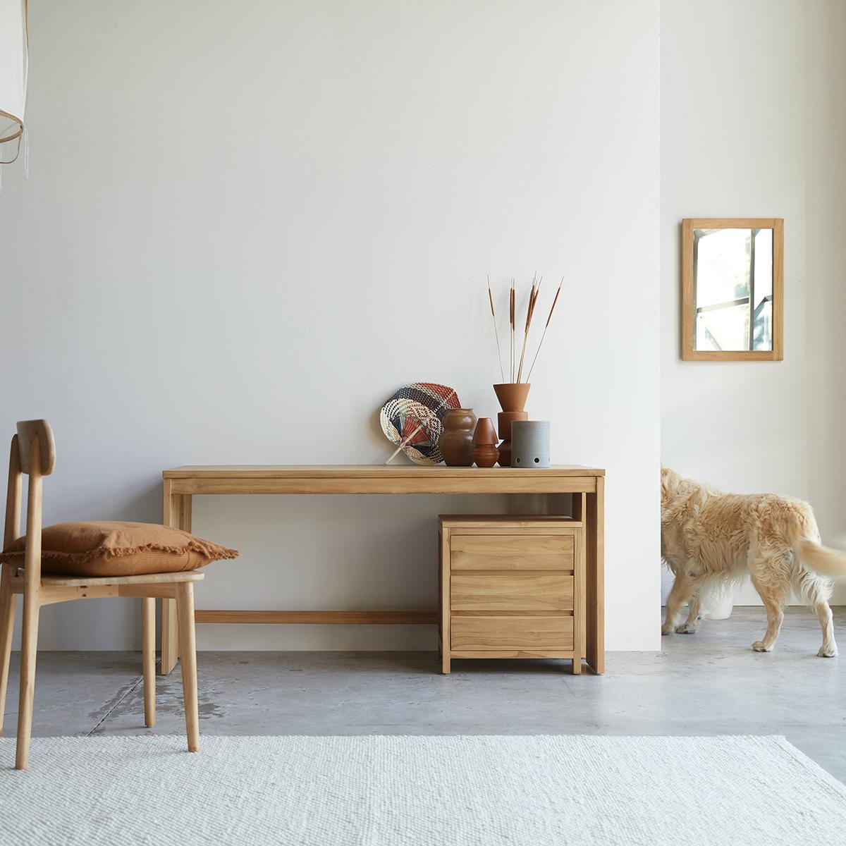 Eden solid teak Desk