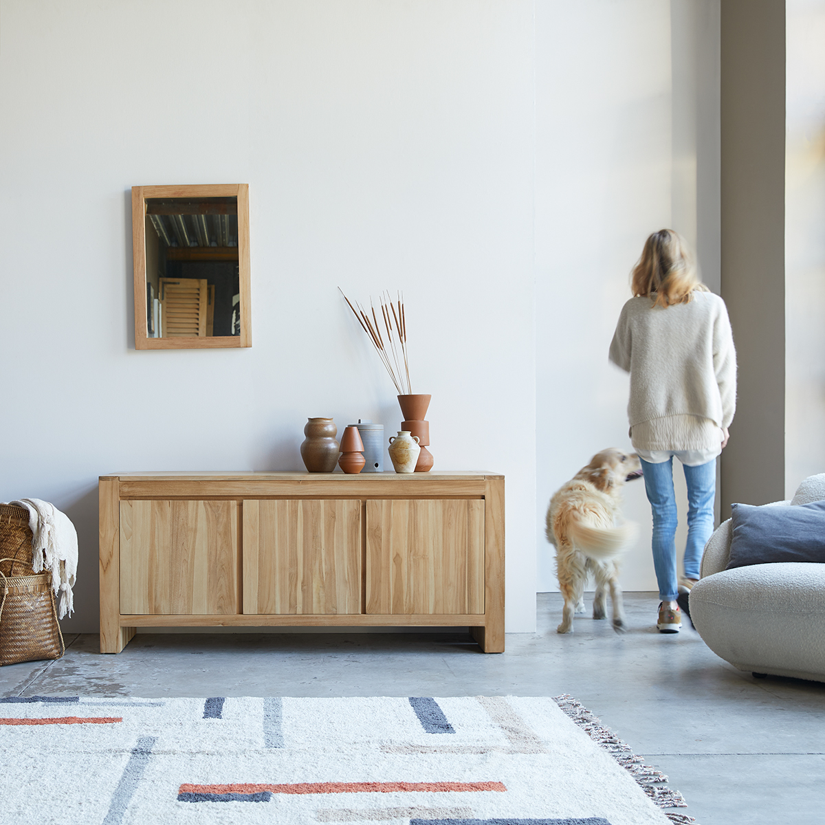 Eden solid teak Sideboard 160 cm