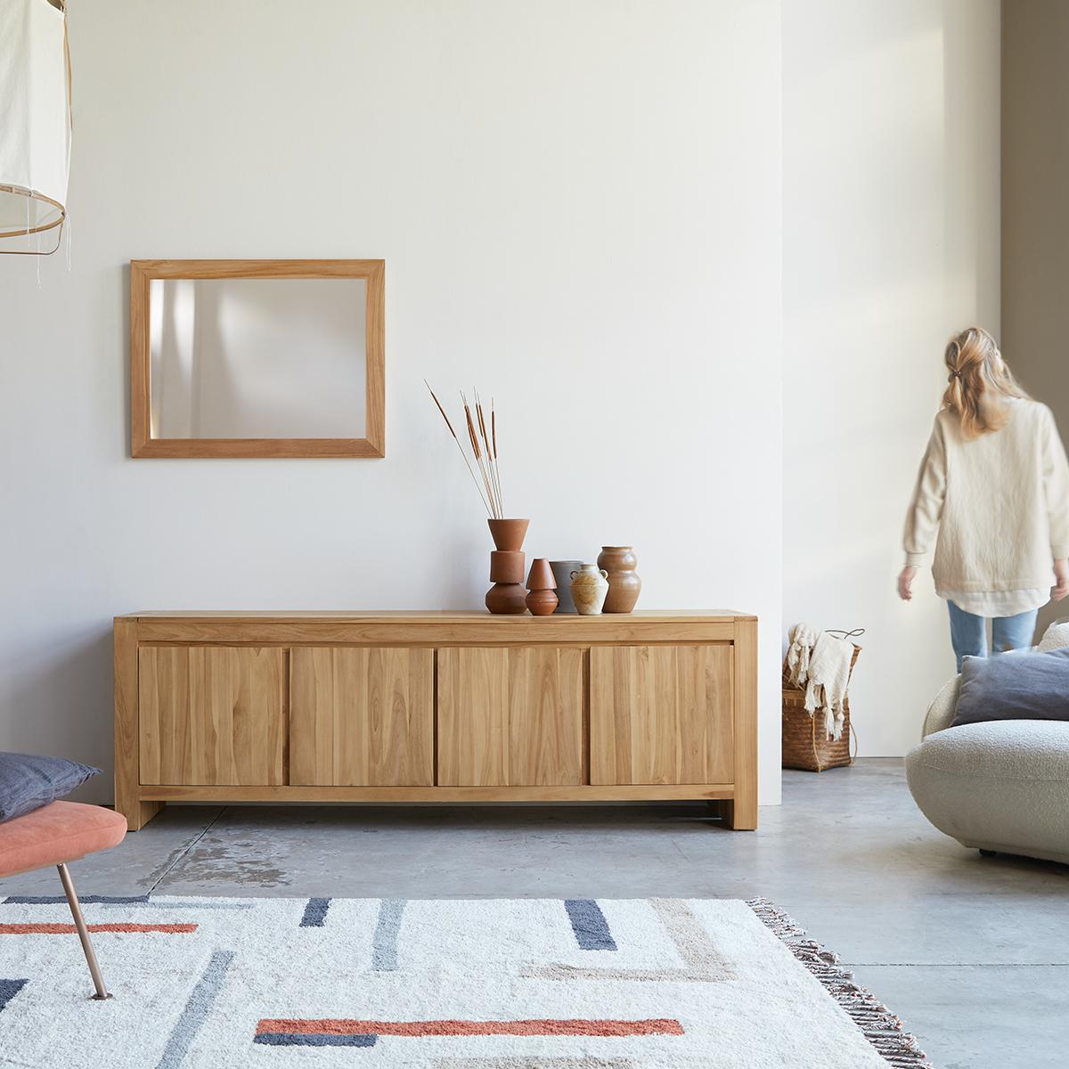 Eden solid teak Sideboard 210 cm