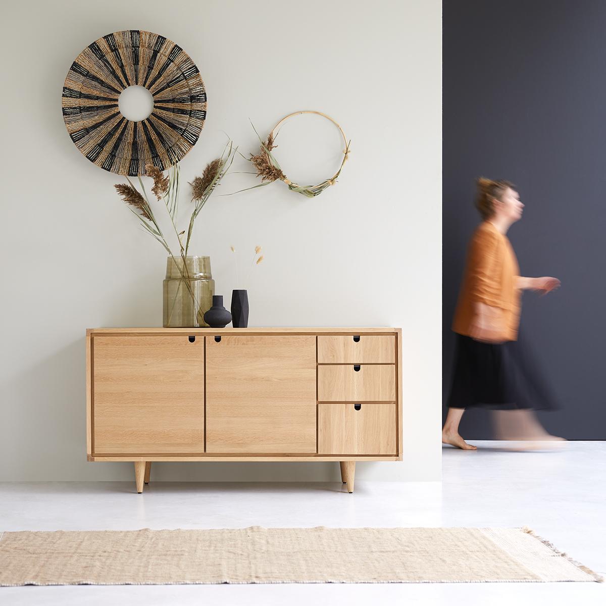Jonàk solid oak Sideboard 145 cm