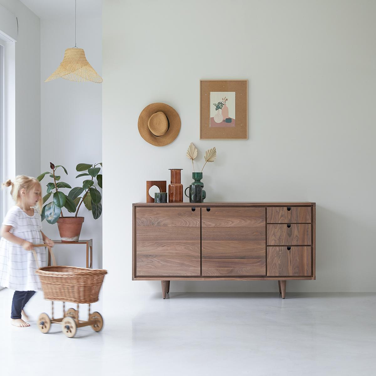 Jonàk solid walnut Sideboard 145 cm