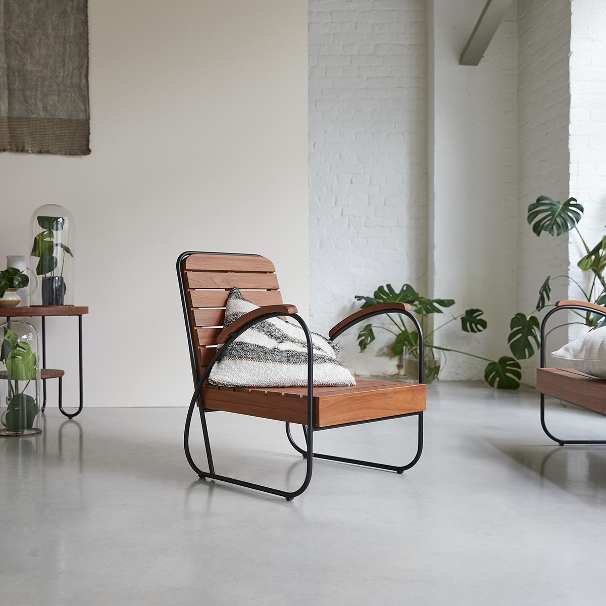 Key Wood solid teak Armchair