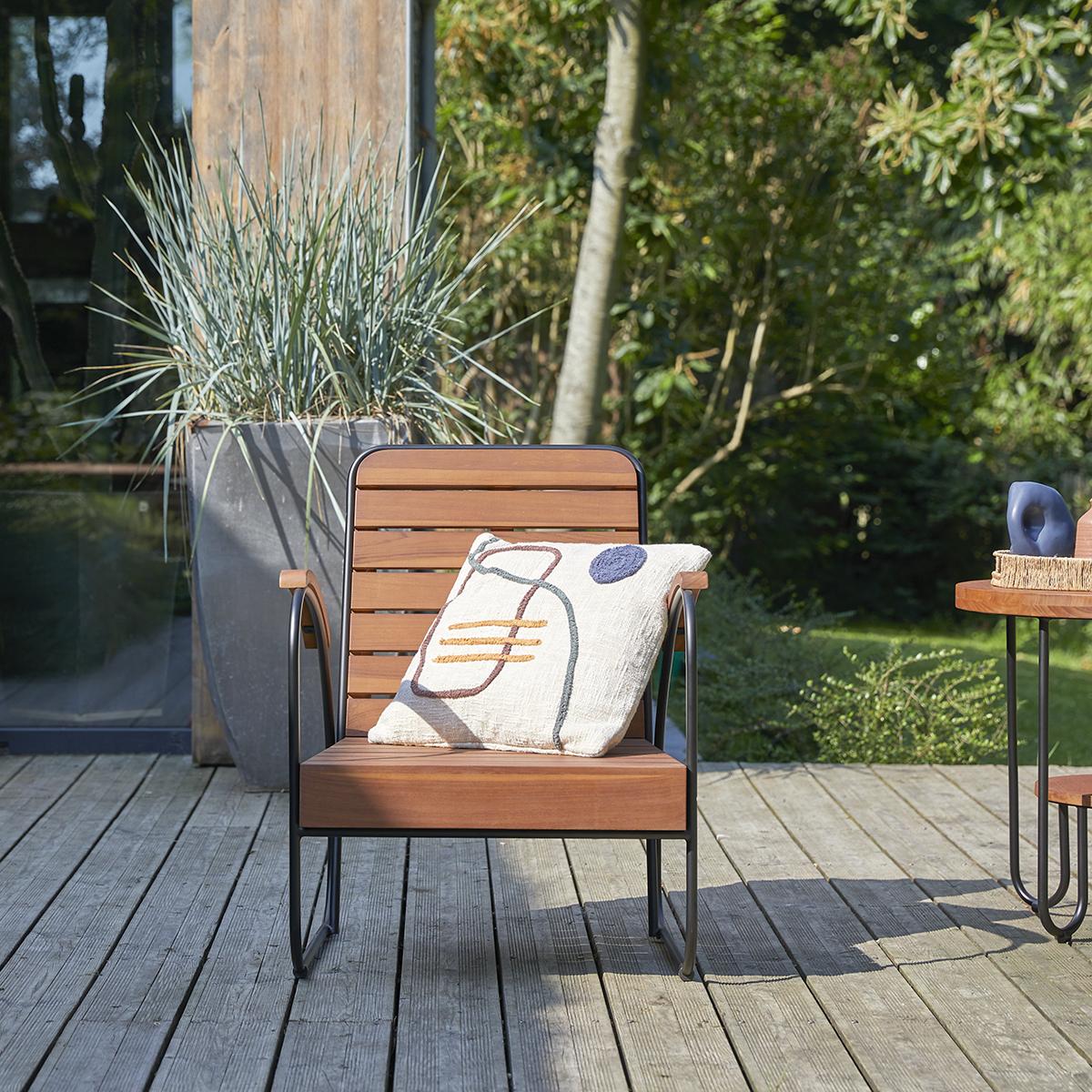 Key Wood solid teak garden Armchair
