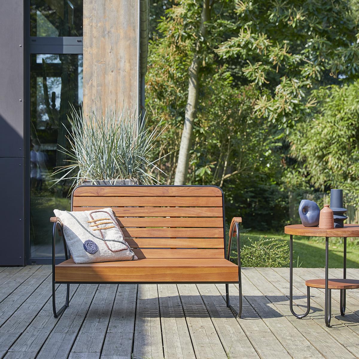 Key Wood solid teak garden Bench