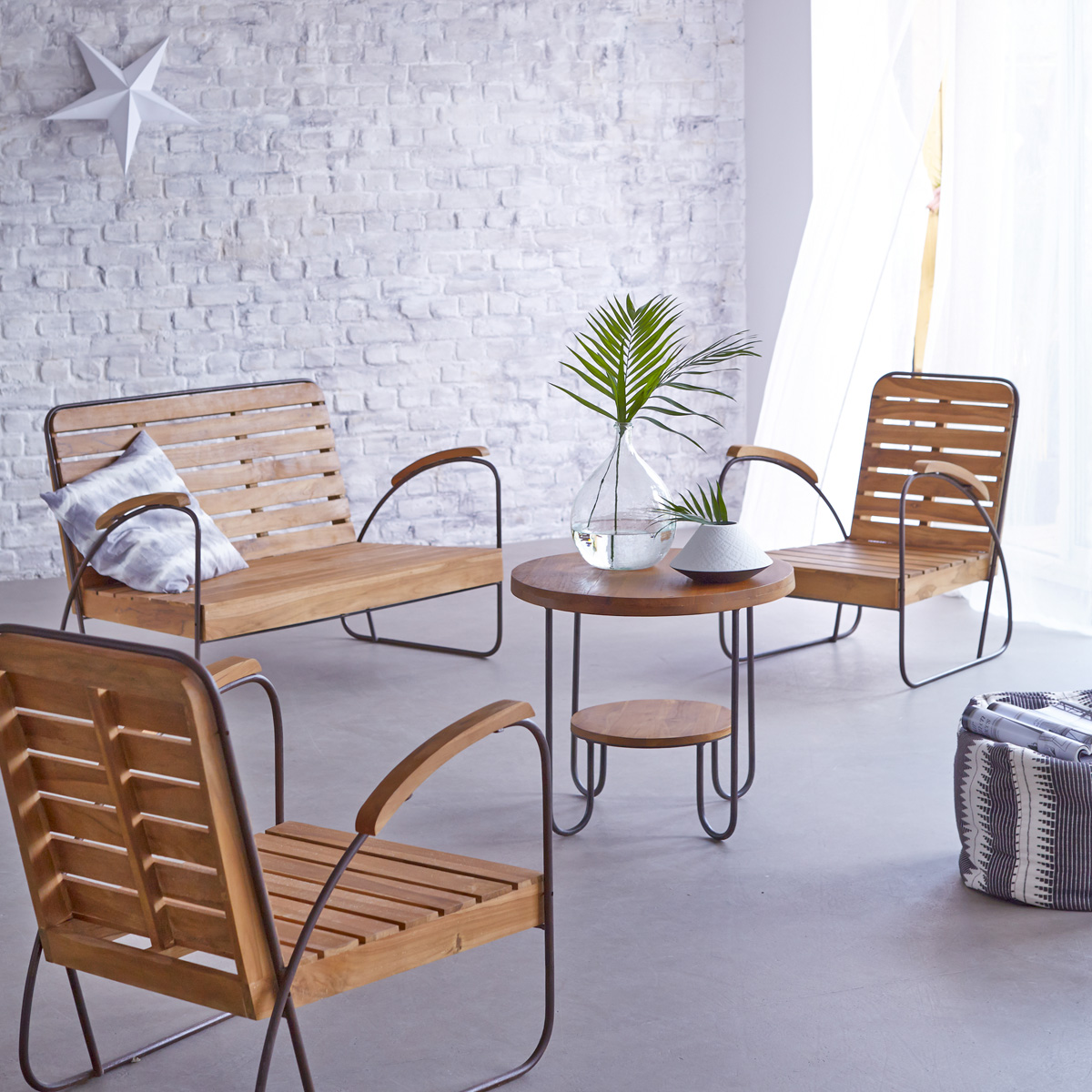 Key Wood solid teak Lounge, seats 4