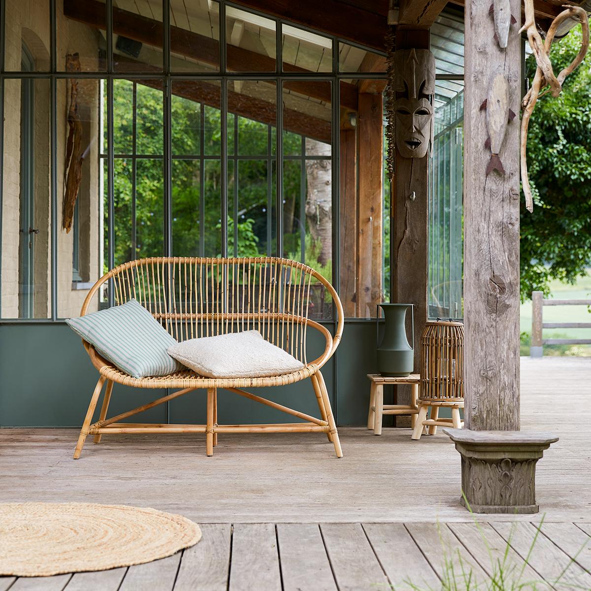 Leontie rattan garden double Armchair