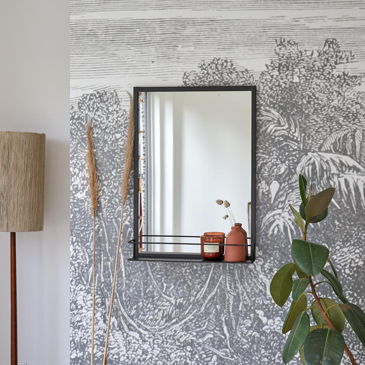 Lison decorative metal mirror 70x50 cm