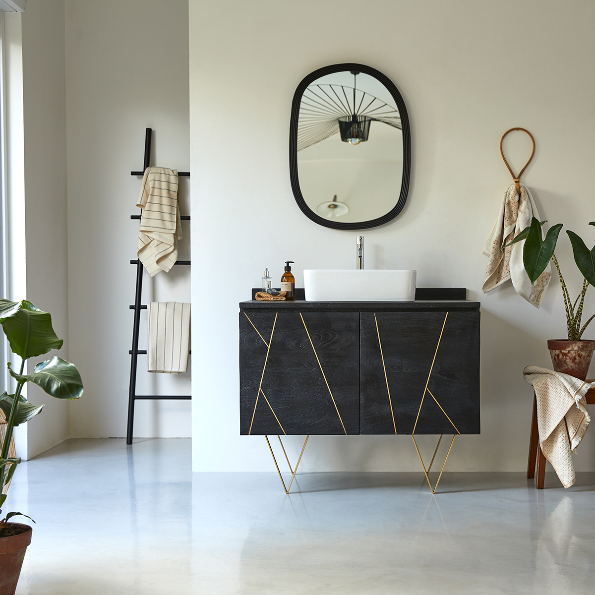 Liv solid mango Vanity Cabinet 100