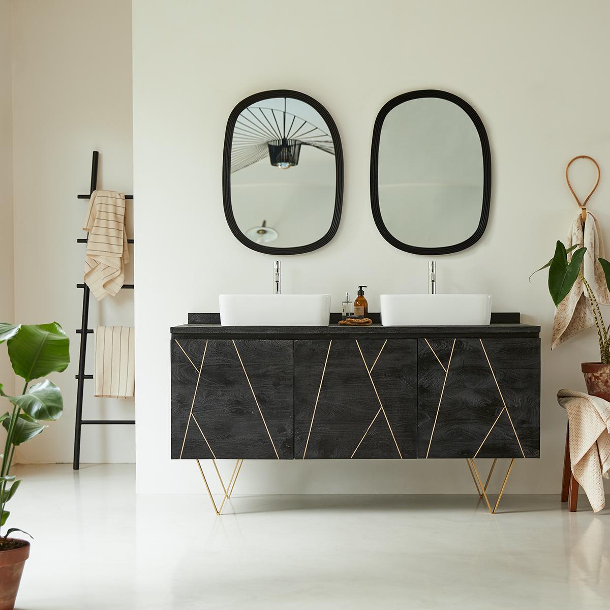 Liv solid mango Vanity Cabinet 155