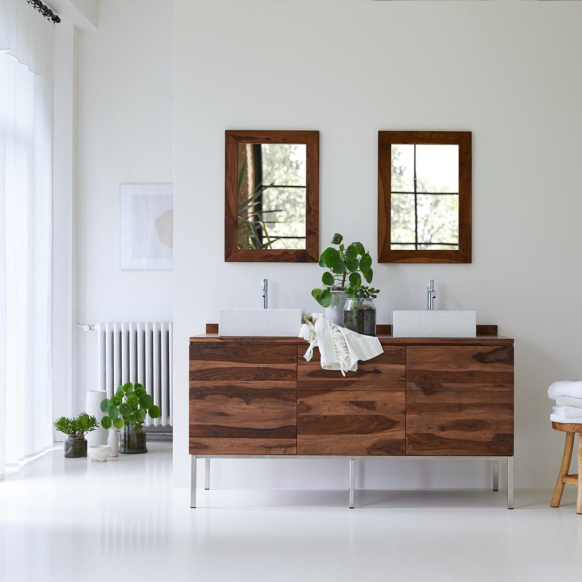 Meuble Salle de bain en palissandre massif 155 Nova