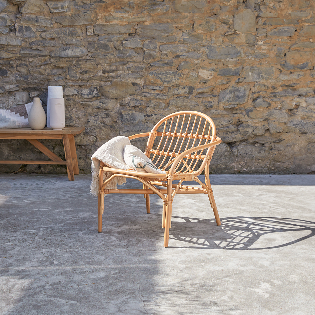 Mina rattan garden Armchair