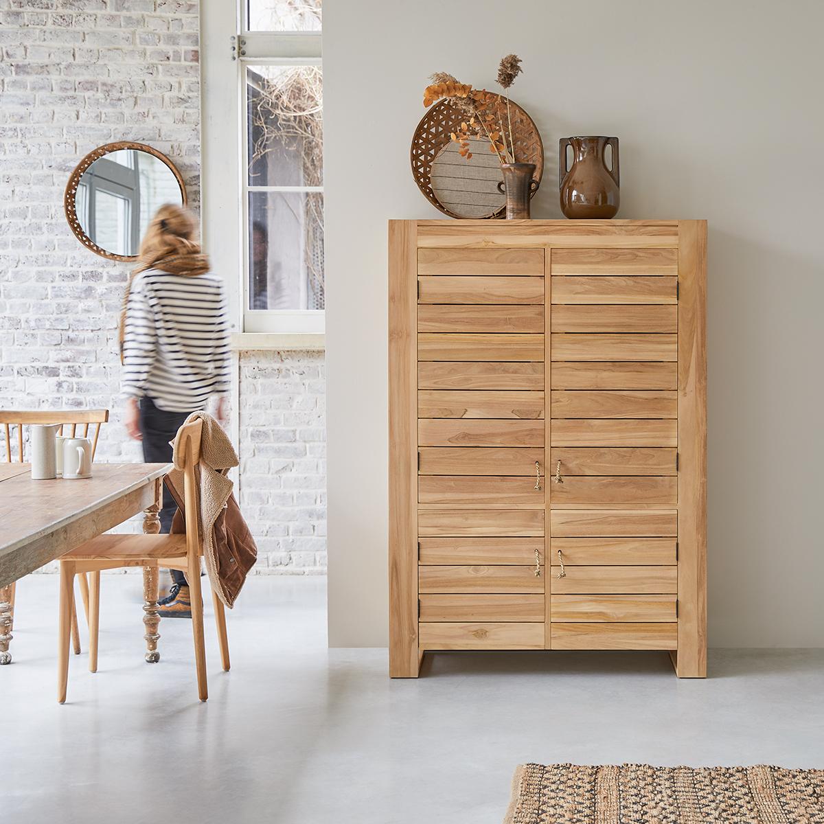 Minimalys solid teak Dresser 110 cm