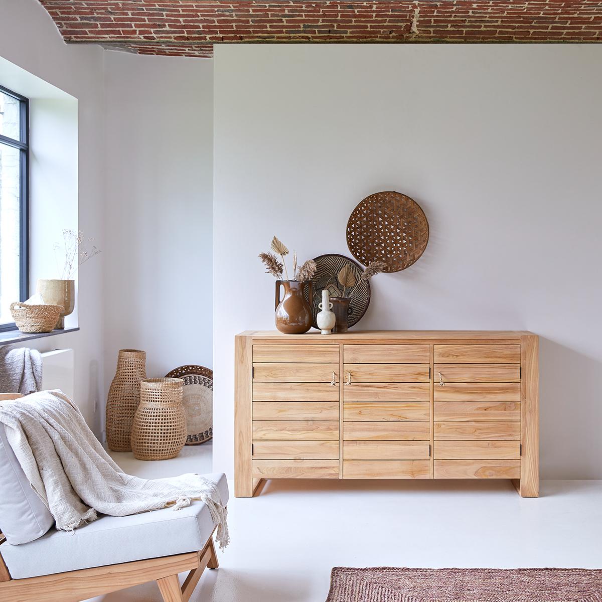 Minimalys solid teak Sideboard 170 cm
