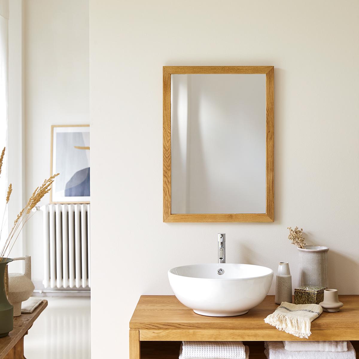Miroir en chêne Serena 70x50
