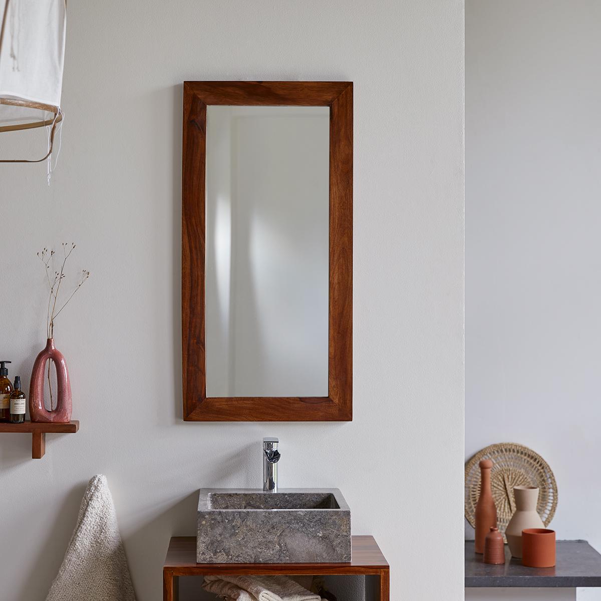 Miroir en palissandre 100x50 Kwarto