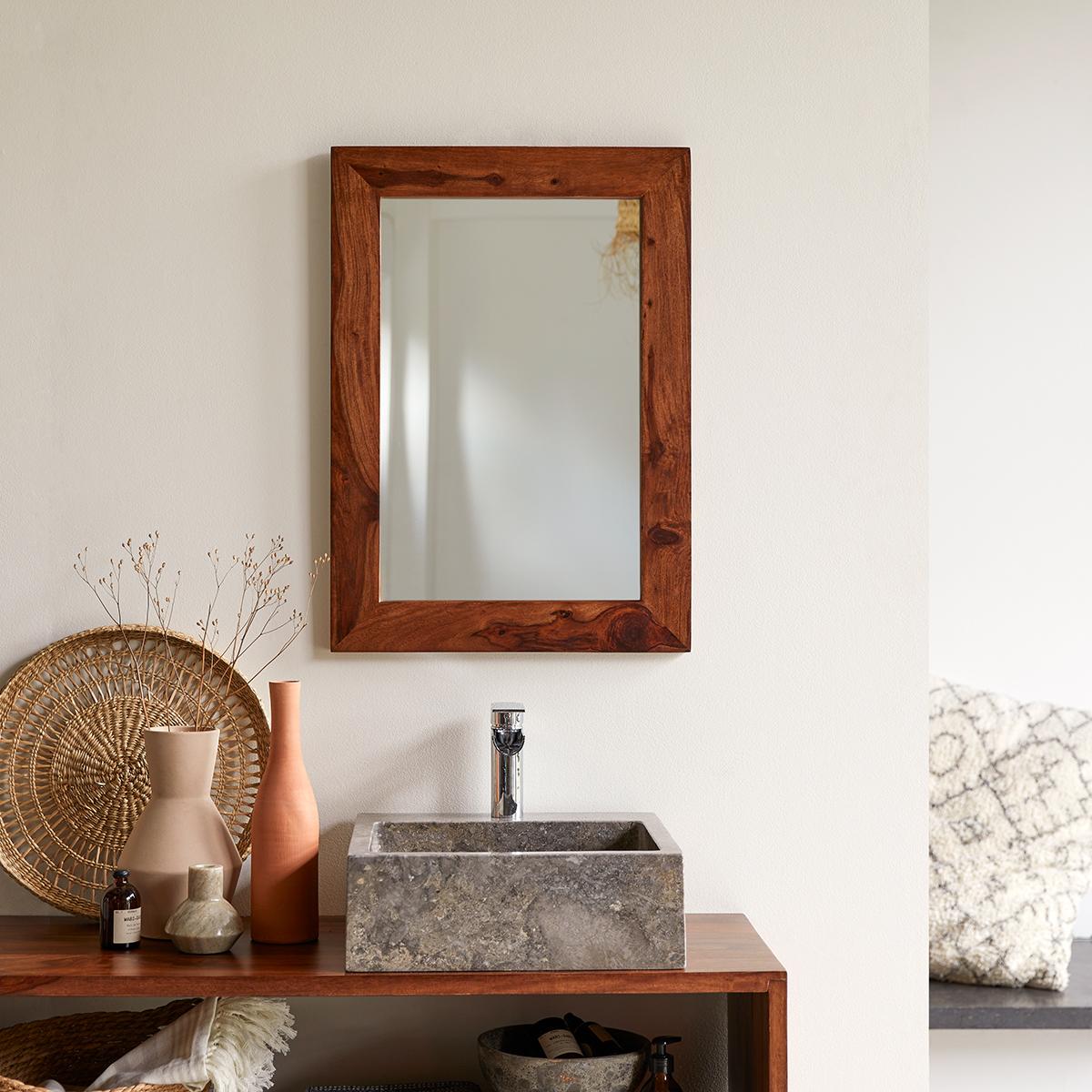 Miroir en palissandre 70x50 Kwarto