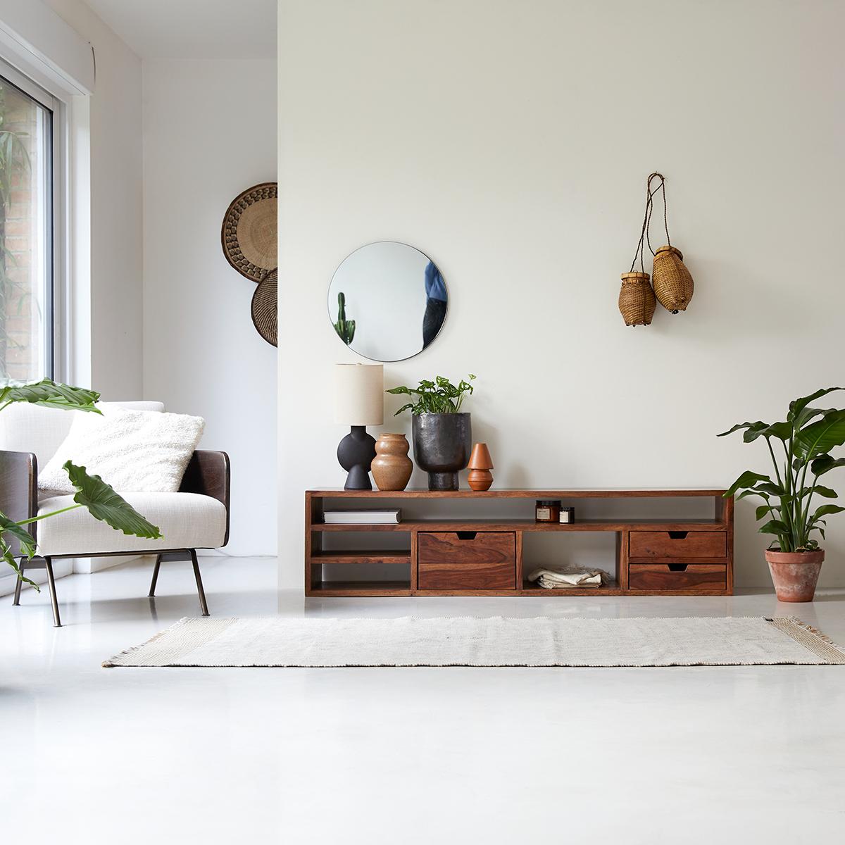 Mueble de TV en palisandro macizo Kwarto 170 cm