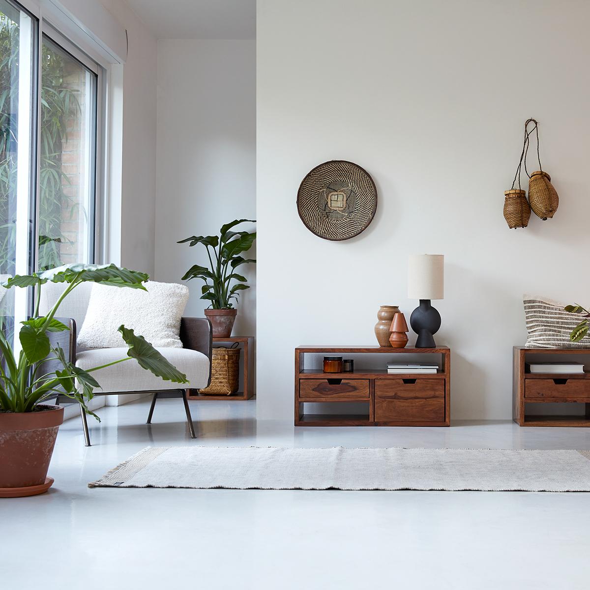 Mueble de TV en palisandro macizo Kwarto 85 cm