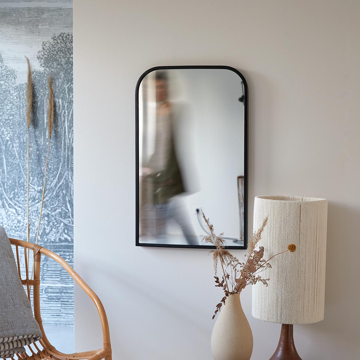 Nordic decorative metal mirror 80x50 cm