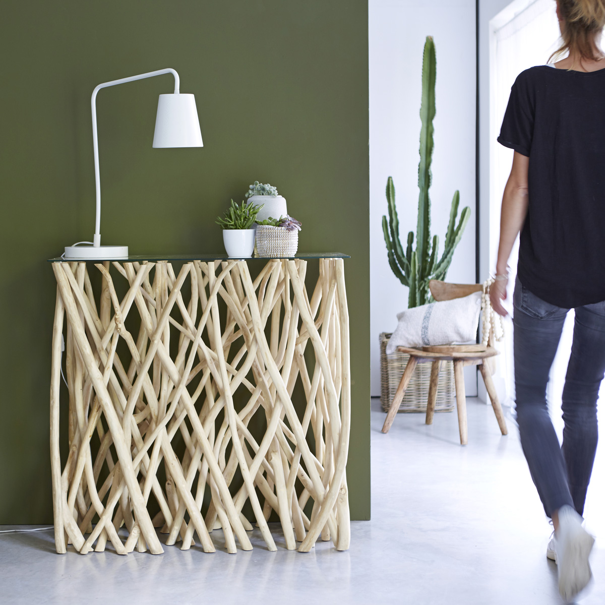 River solid teak Console table