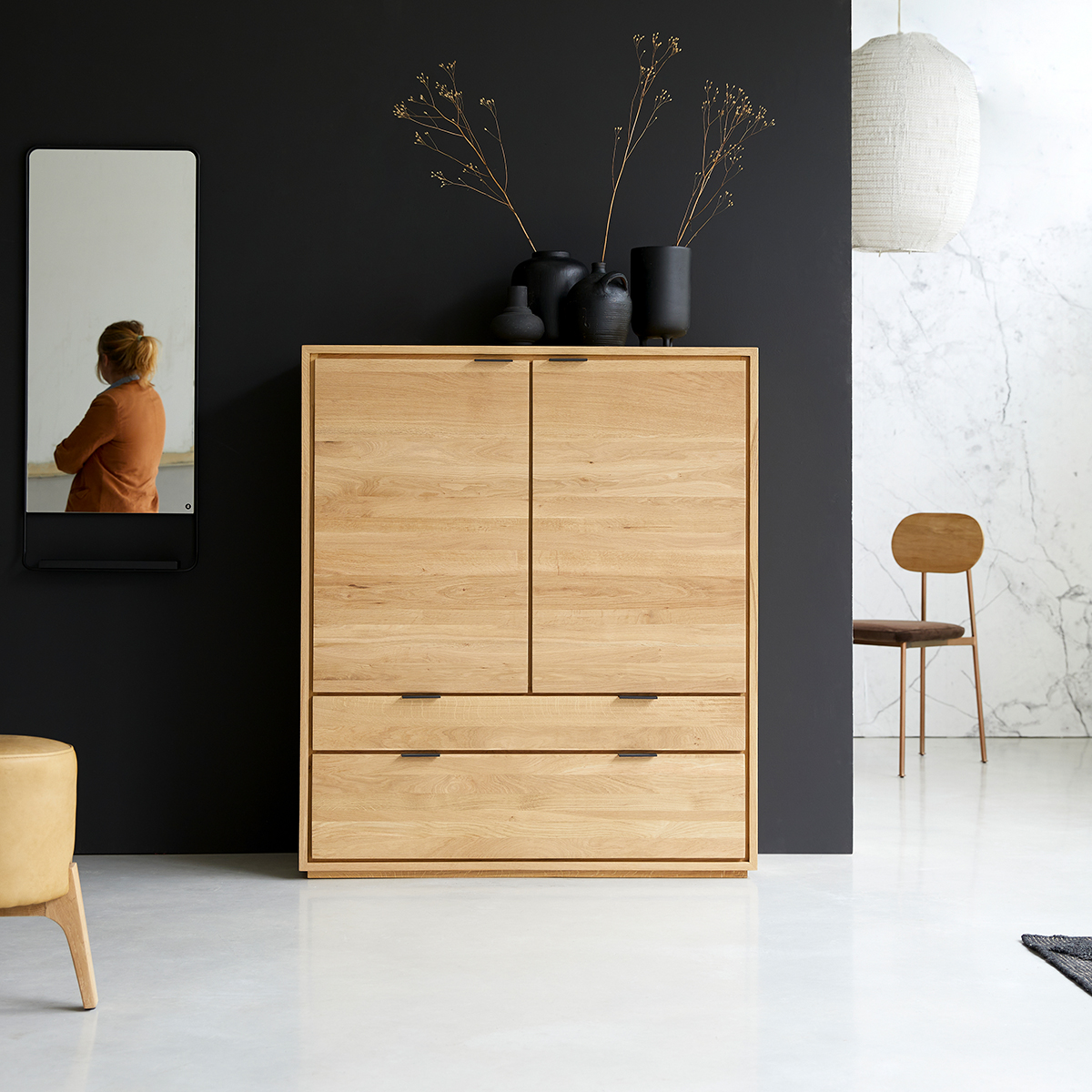 Senson solid oak storage cabinet