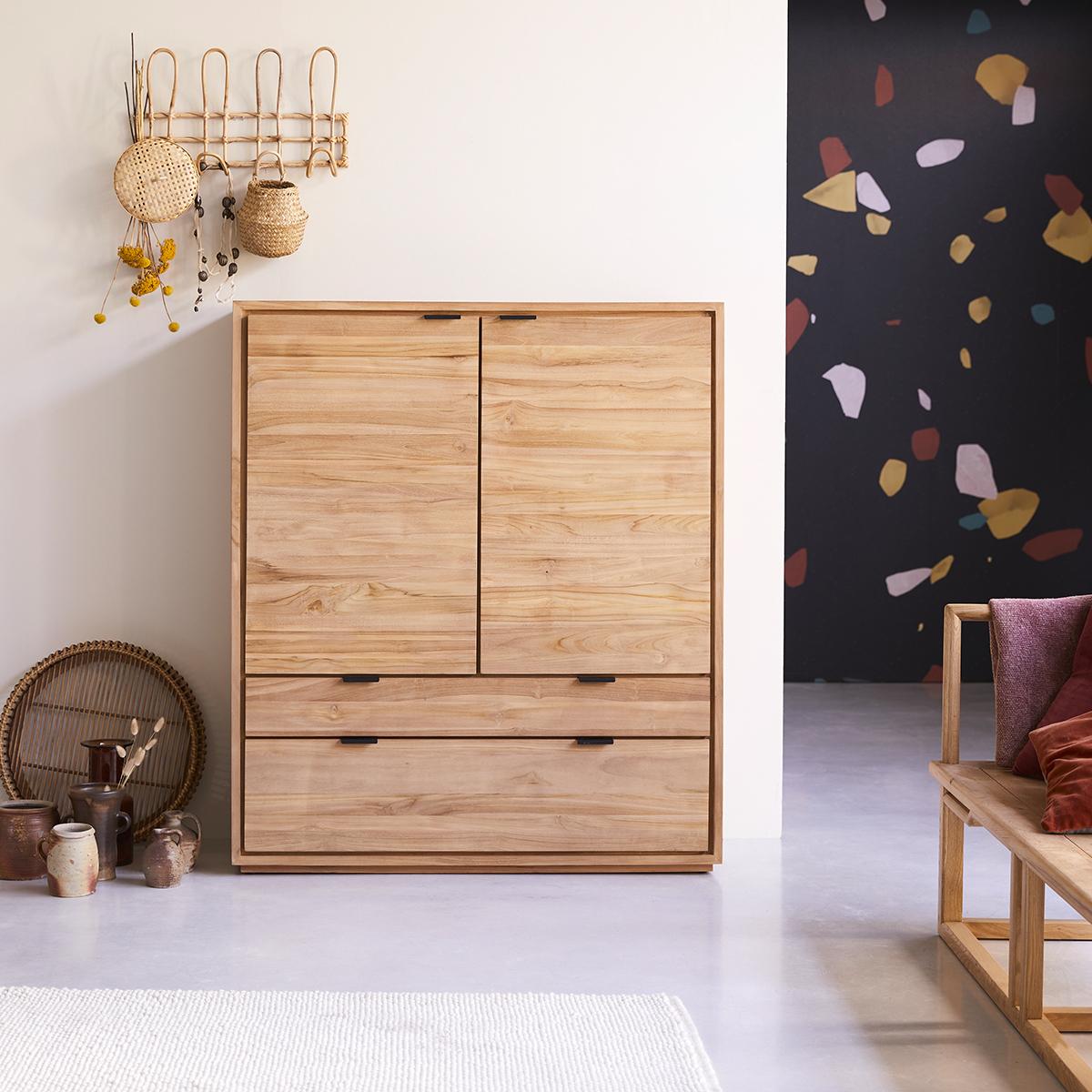 Senson solid teak storage cabinet