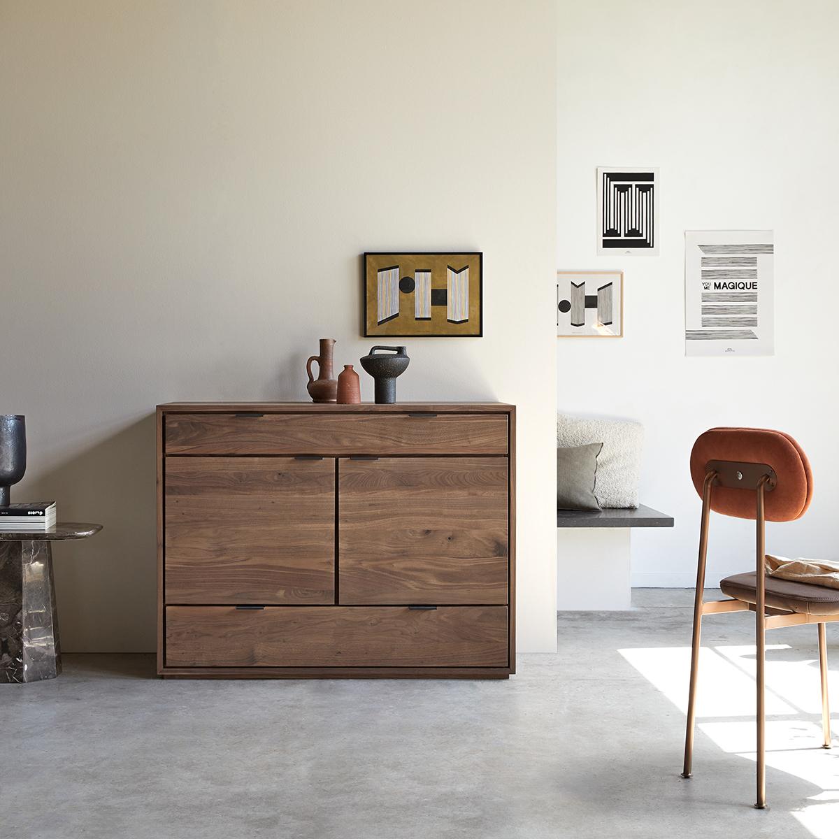 Senson solid walnut sideboard 120 cm
