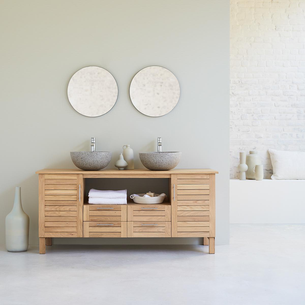 Soho 165 solid oak bathroom unit