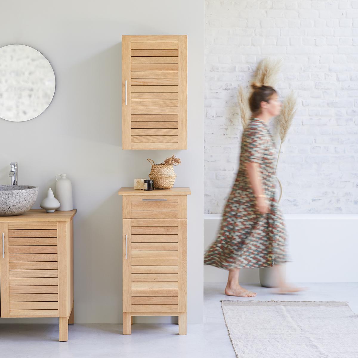 Soho solid oak bathroom Storage set