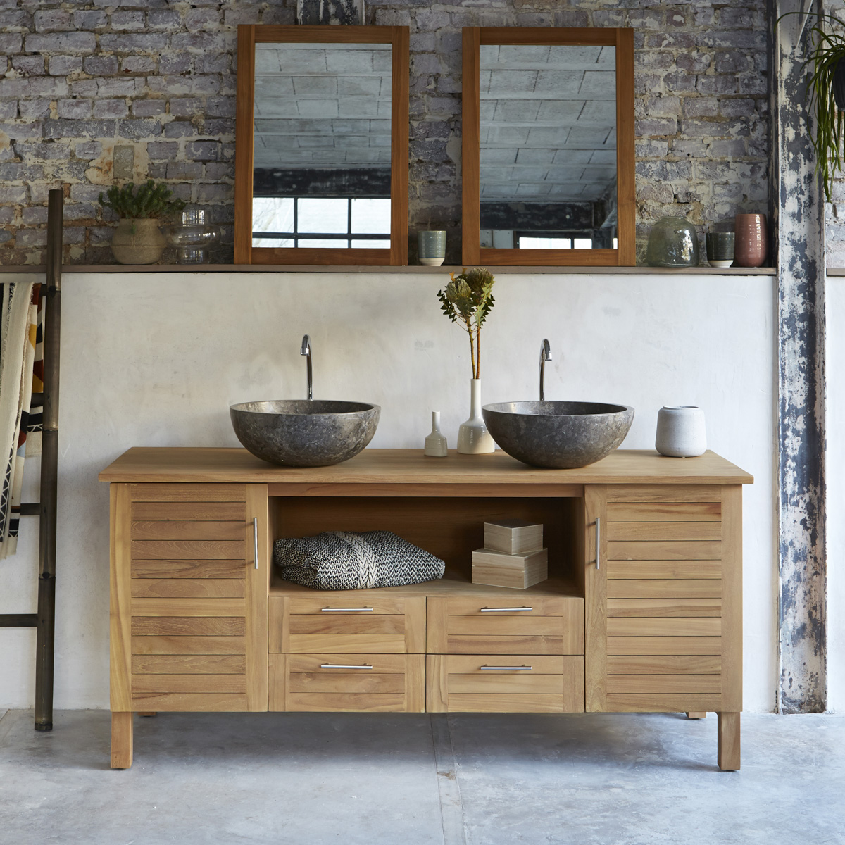 Soho solid teak Vanity Cabinet 165