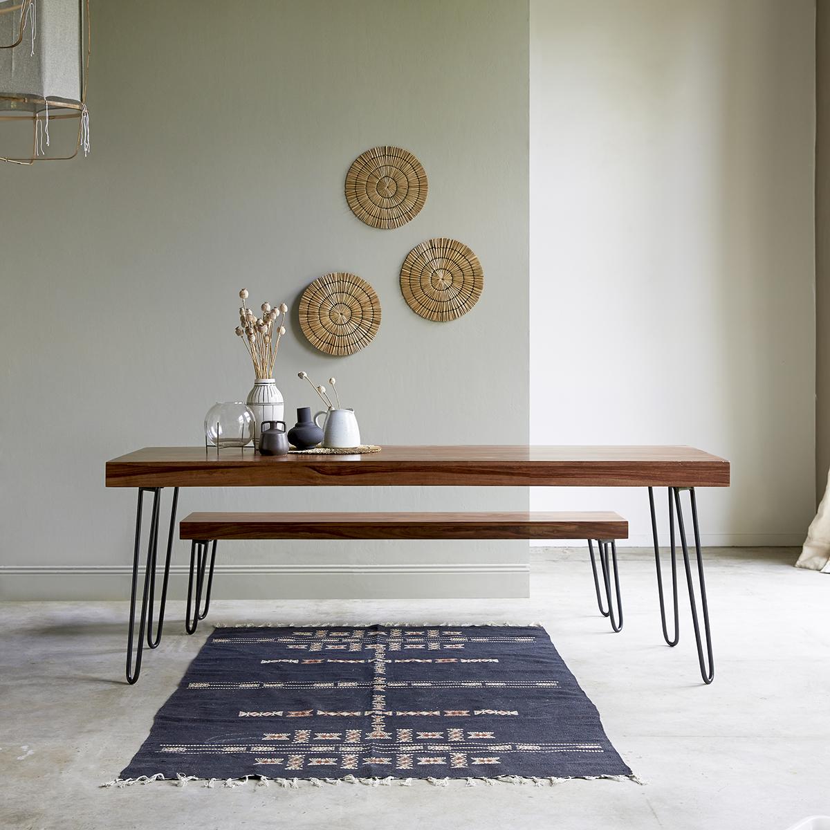 Table en palissandre massif 210x75 Helga