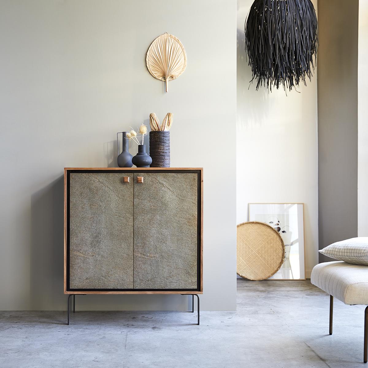 Temis acacia bar cabinet 90 cm