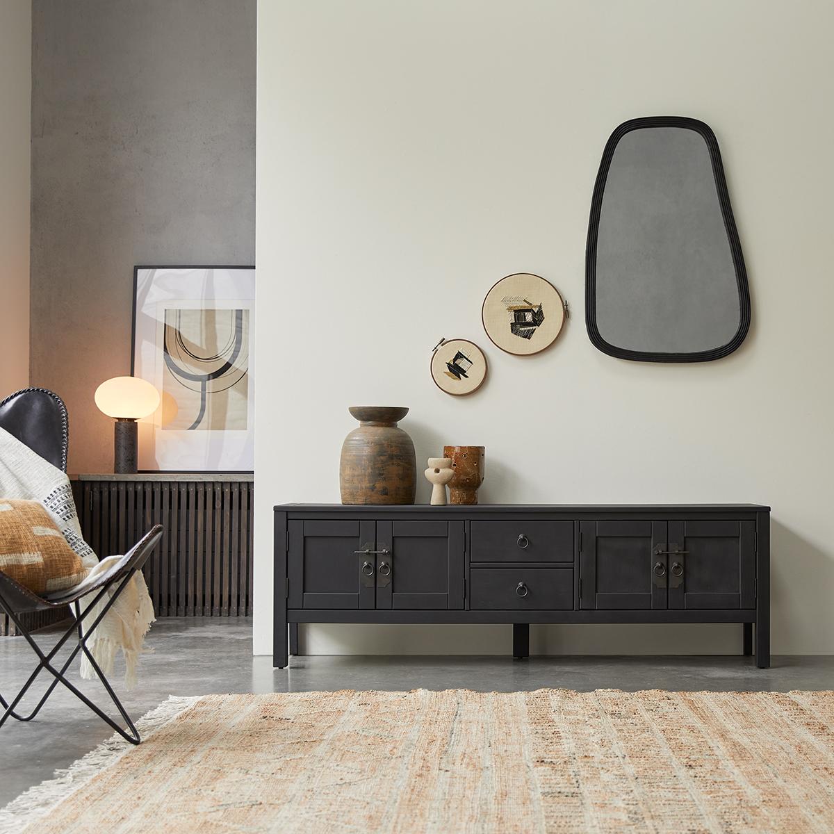 Thaki black mahogany TV Stand 170 cm