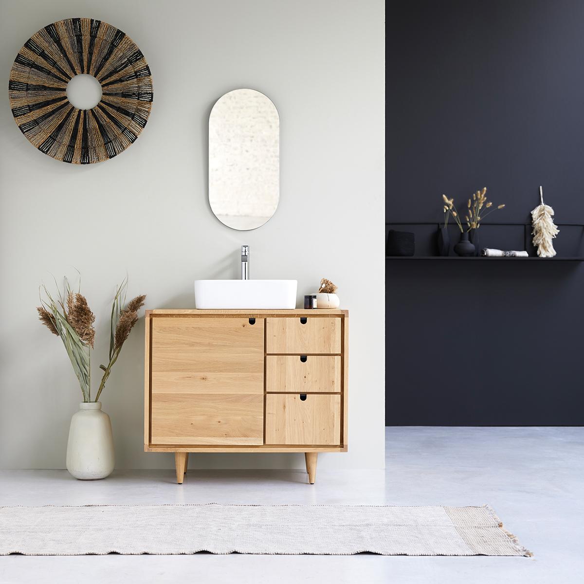 Waschbecken Unterschrank aus Eiche – 20 cm – Badezimmermöbel ...