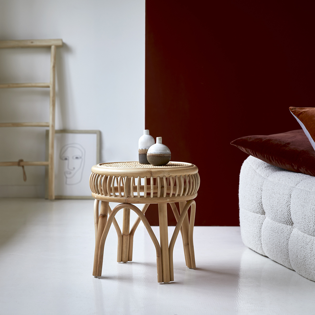 Zita rattan Side table